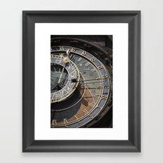 Astronomical clock Prague Framed Art Print