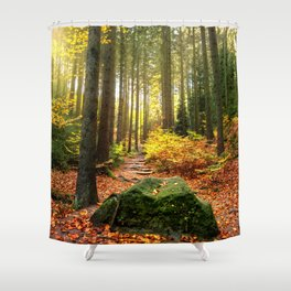 Path Through The Trees - Landscape Nature Photography Shower Curtain