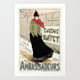 Eugénie Buffet winter Art Print