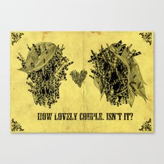 lovely couple Canvas Print