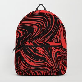 Red and black marble pattern Backpack