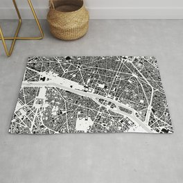 Paris building map Rug