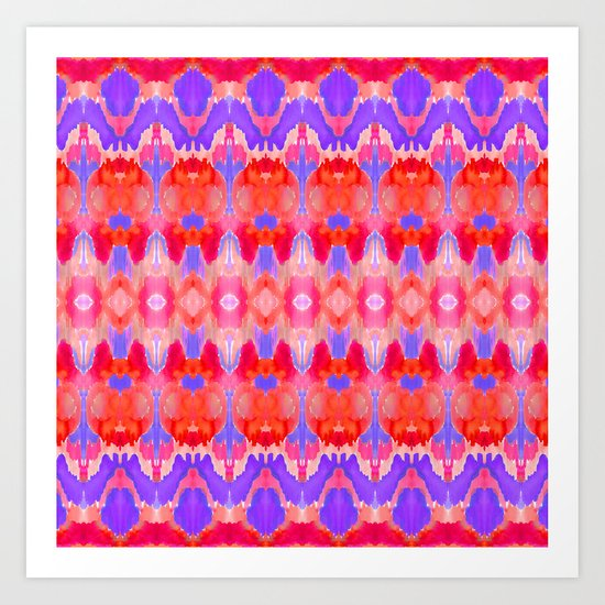 Watercolour Ikat III Art Print