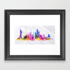 Color New York Skyline 01 Framed Art Print