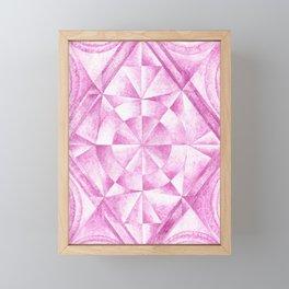 Cobalt Violet Pattern Framed Mini Art Print