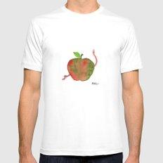 Apple Mens Fitted Tee White MEDIUM
