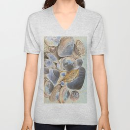 Seashell Abstract Unisex V-Neck