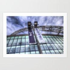 Come on You Spurs Wembley Stadium Art Print