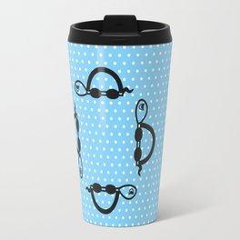"""""""I can swim in BLUE polka dot!"""" Travel Mug"""