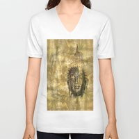 antique V-neck T-shirts featuring Buddha antique by Digital-Art