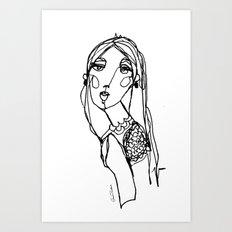 LINA {Seafoam} Art Print
