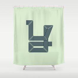 Alphabet Drop Caps Series- Y Shower Curtain