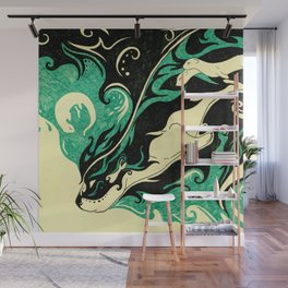 Dreaming Otter Wall Mural