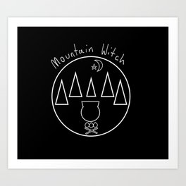 Mountain Witch Art Print