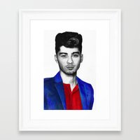zayn malik Framed Art Prints featuring Zayn Malik by jsanmateo