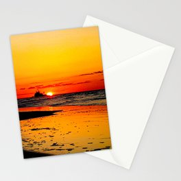 Ship on the Rising Sun Stationery Cards