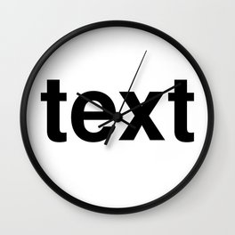 text Wall Clock