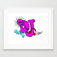 dj Framed Art Prints featuring DJ by Christa Bethune Smith
