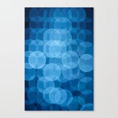 circles light blue Canvas Print