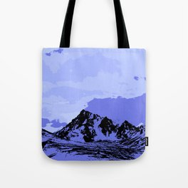 Chugach Mountain - Blue Pop Art Tote Bag