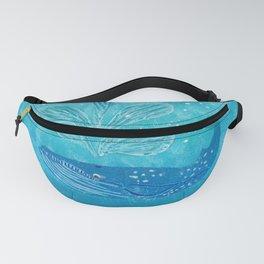 Blue Whale Spout Fanny Pack