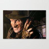 freddy krueger Canvas Prints featuring Freddy Krueger by Moody Voodies