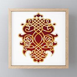 Ornate Royal Red and Gold Framed Mini Art Print