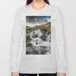 Cwm Idwal River Snowdonia Long Sleeve T-shirt