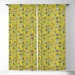 Color small fishes and sea Blackout Curtain