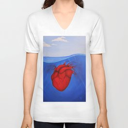 Sinking Heart Unisex V-Neck