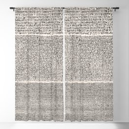 The Rosetta Stone // Antique White Blackout Curtain