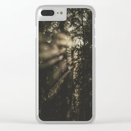 Sunset in the Woods - Nature Photography Clear iPhone Case