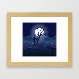 Night sex Framed Art Print