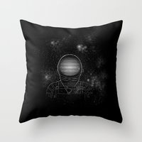 astronaut Throw Pillows featuring Astronaut  by Becky Hayes