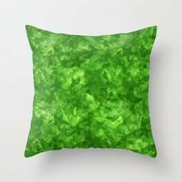 Dark pastel variegated green stars in the projection. Throw Pillow