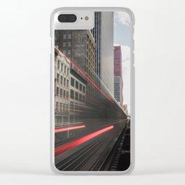 Train Blur Clear iPhone Case