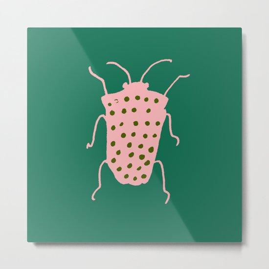 Beetle green Metal Print