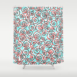 Pattern hypnotized Shower Curtain