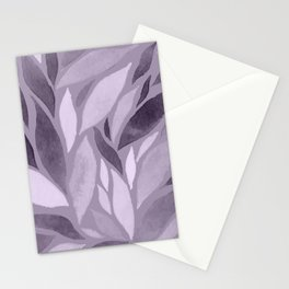Abstract Watercolour Leaf IX Stationery Cards