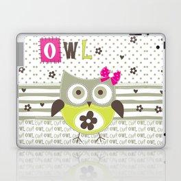 Cute Owl Laptop & iPad Skin