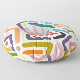 Line Drawing Pattern Floor Pillow