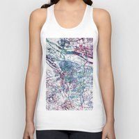 portland Tank Tops featuring Portland map by MapMapMaps.Watercolors