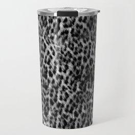 Cheetah Fur Texture - Black and White Travel Mug