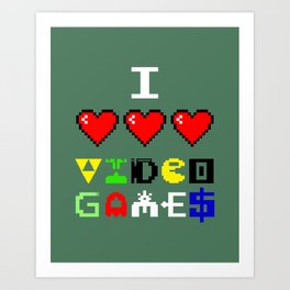 I 3 up video games Art Print