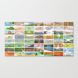 US National Parks Canvas Print