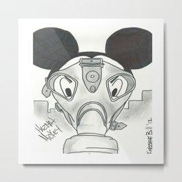 """Hazmat Mickey"" by: Kerosene Bill Metal Print"