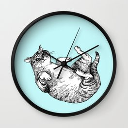 Falling cat Wall Clock