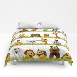 Adorable Zoo animals Comforters