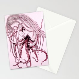 Lady & Octopus Stationery Cards