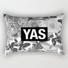 YAS B&W Rectangular Pillow